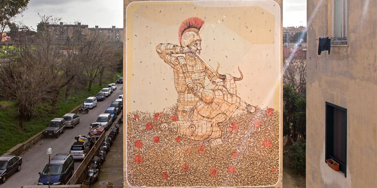 Pixel Pancho - Theseus and the Minotaur - Rome, 2016 - ©BlindEyeFactory
