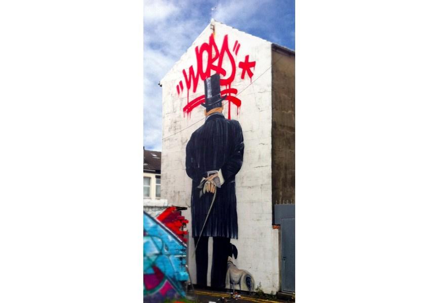 Shai Dahan Mural Blackpool, North West England 2013