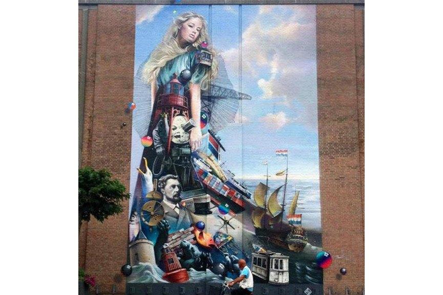 Super A - mural in Vlissingen, Netherlands, 2015