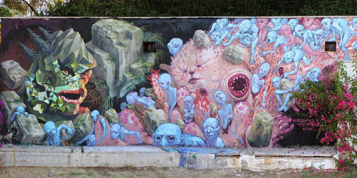 Uriginal - Mural In La Foixarda, Barcelona - image courtesy of the artist
