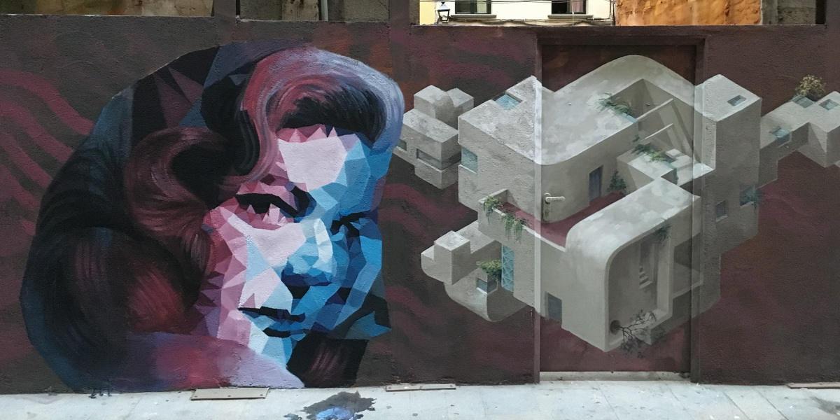 Uriginal - Mural in Carrer Ciutadans. Girona - image courtesy of the artist