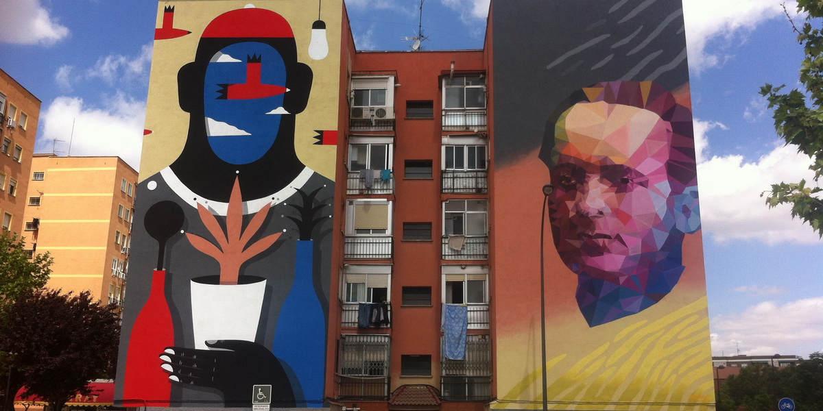 Uriginal - Mural in Getafe - image courtesy of the artist
