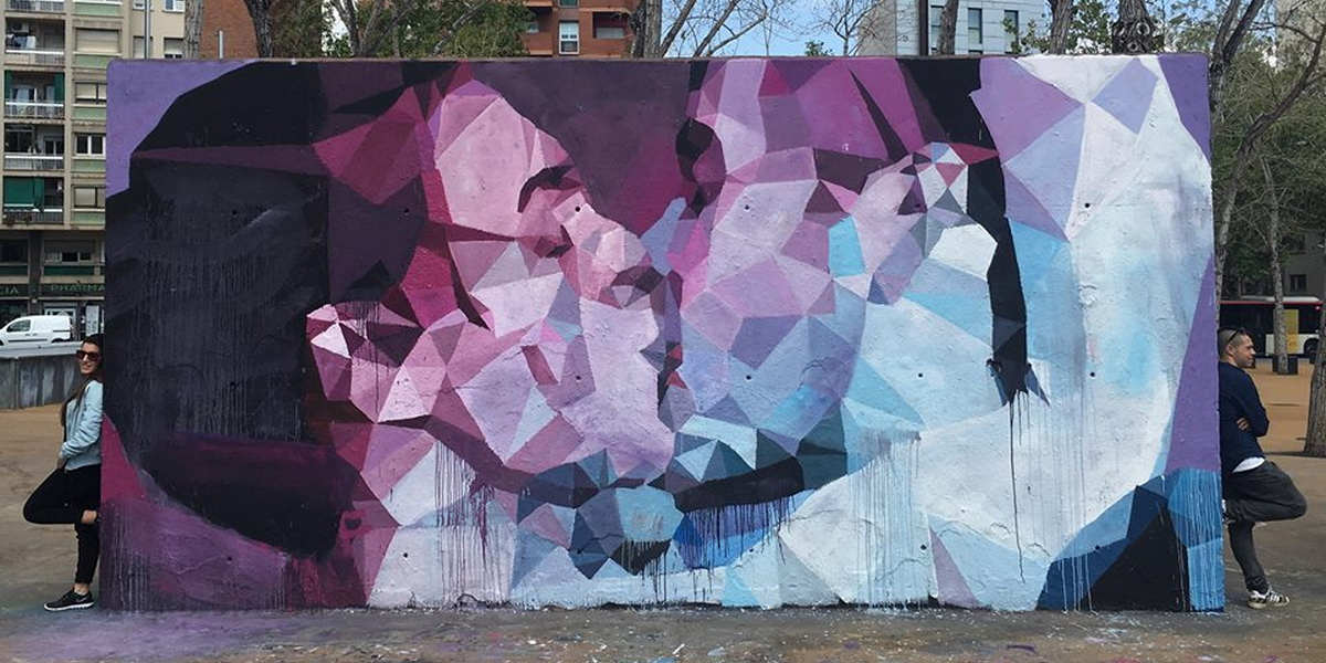 Uriginal - Mural in Tres Xemeneies, Barcelona - image courtesy of the artist