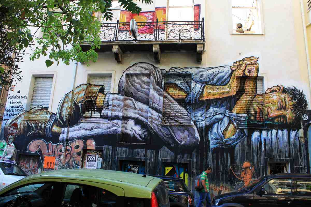 WD aka Wild Drawing - No land for the Poor - Athens, Greece, 2015