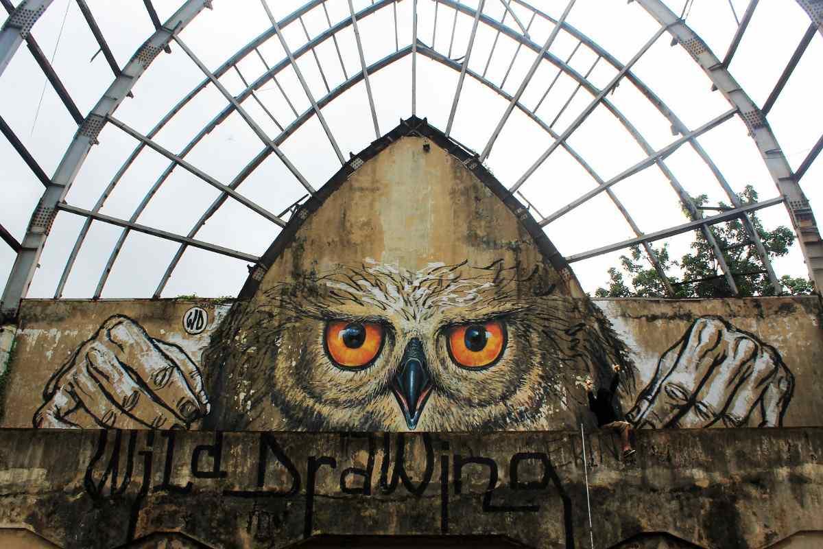 WD aka Wild Drawing - Owlself - Bali, Indonesia, 2015