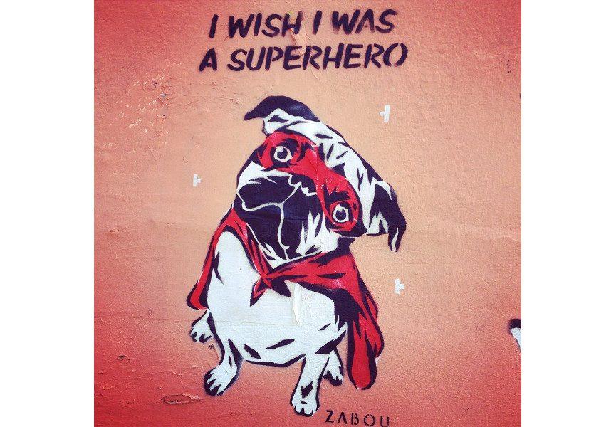 Zabou - I Wish I Was A Superhero, 2014, East London, photo credits - artist