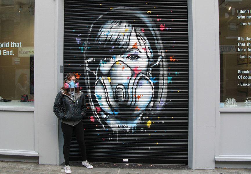 Zabou - Selfportrait #1, 2014, Lollipop Gallery, London, UK, photo credits - artist