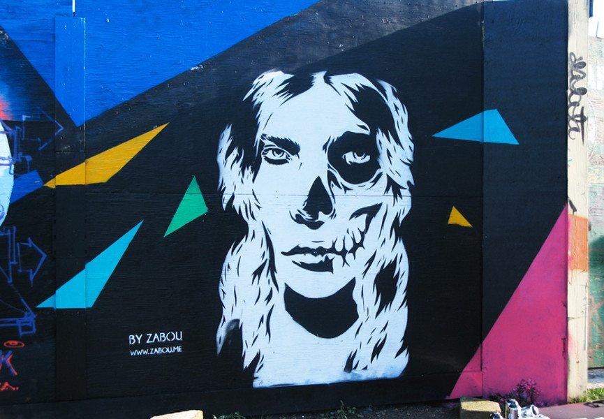 Zabou - Skull Girl, 2013, Dalston, London, UK, photo credits - artist