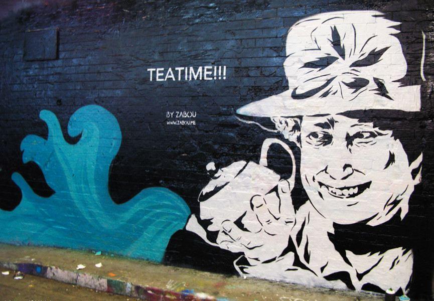 Zabou - Teatime, 2013, Leake Street (Waterloo), London, 2013, photo credits - artist