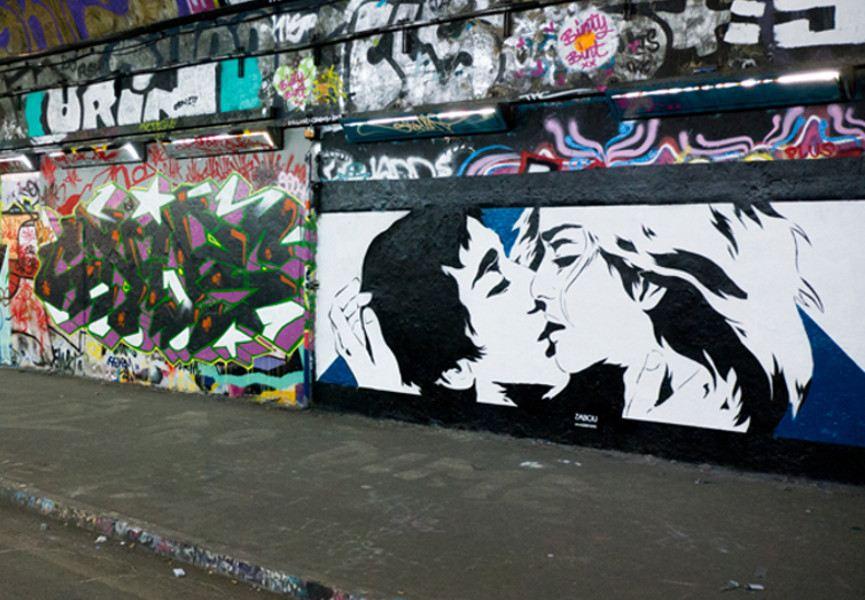 Zabou - The Kiss, 2013, Waterloo, London, photo credits - artist